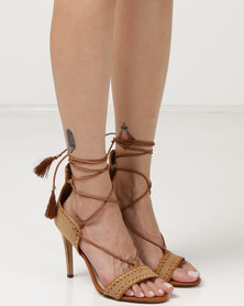 Miss Black Jolene Heel Sandals Brown