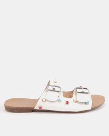 Miss Black Bless Sandals White