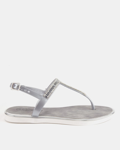 Miss Black Cadence Sandals Silver