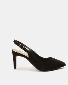 Madison Adrianna Slingback Court Heels Black