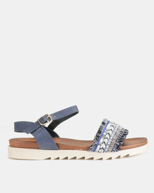 Utopia Annie G Flat Sandals Blue