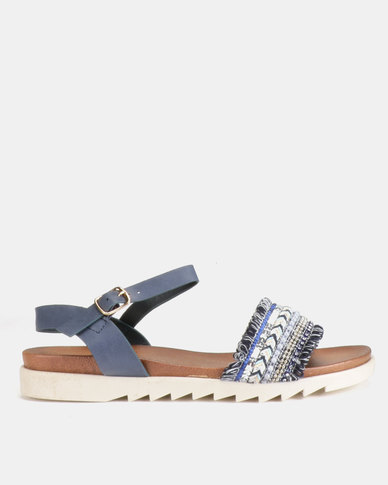 Utopia Annie G Flat Sandals Blue