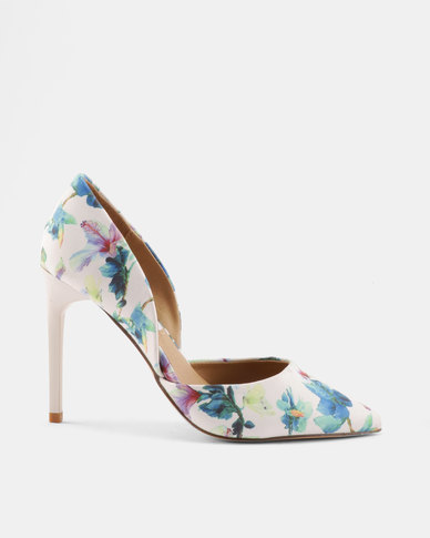 Madison Sia Two Part Pointy Courts White Multi Floral