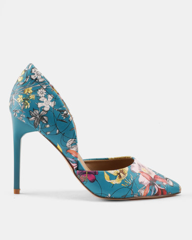 Madison Sia Two Part Pointy Courts Green Floral