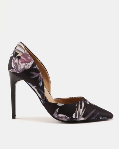 Madison Sia Two Part Pointy Courts Dark Floral