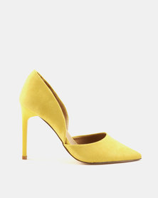 Madison Sia Two Part Pointy Court Yellow Suede