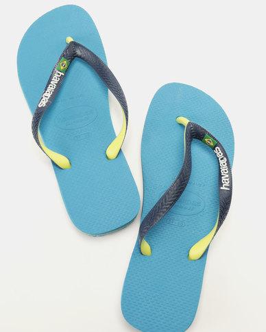 cdb085a11 Havaianas Brazil Mix Flip Flops Turquoise