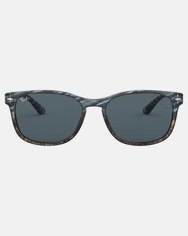 Ray-Ban Square Framed Sunglasses Blu Gradient Grey Stripped | Zando
