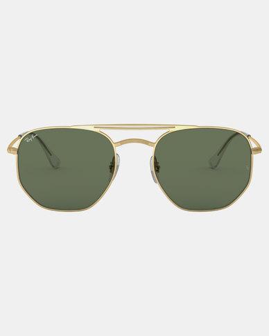 080298812d8 Ray-Ban Square Framed Sunglasses Demi Gloss Gold