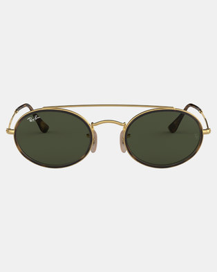 766209aef8 Ray-Ban Oval Framed Sunglasses Gold