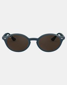 Ray-Ban Oval Framed Sunglasses Blue