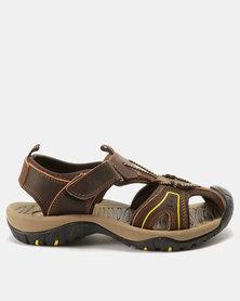 Bronx Men Trail Sandals Choc