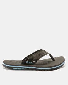 Bronx Men Stream Sandals Grey/Black