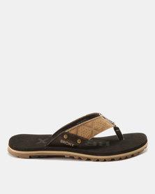 Bronx Men Stream Sandals Beige/Choc