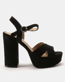 Madison Casslyn Platform Sandals Black