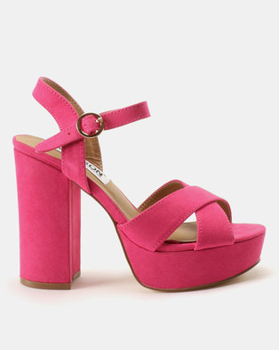 Madison Casslyn Platform Sandals Pink
