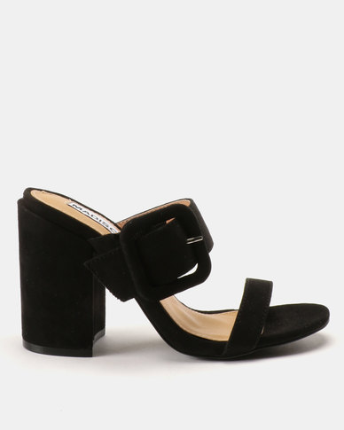Madison Jaimi Block Heel Mules Black