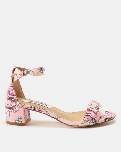 Madison Sydney Clean Block Heel Sandals Floral