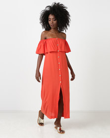 SassyChic Amelia Maxi Dress Orange