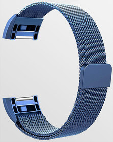 Gretmol Milanese Fitbit Charge 2 Replacement Strap Blue