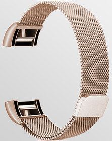 Skone Milanese Fitbit Charge 2 Replacement Strap Rose Gold