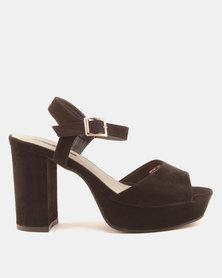 Legit Low Platform Heels With Ankle Strap Brown