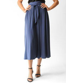 Marique Yssel Knit Midi Skirt Navy