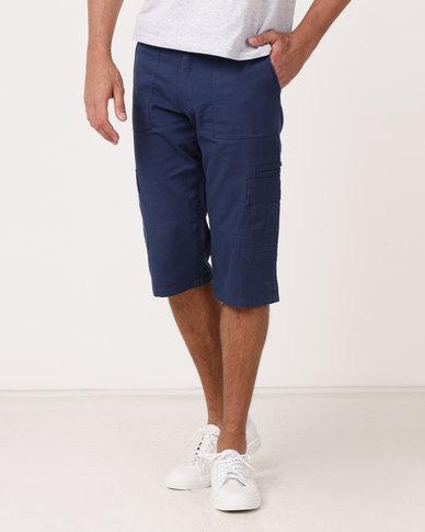 JCrew Clamdigger Shorts Blue