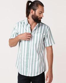 JCrew Bold Vertical Stripe Shirt Green
