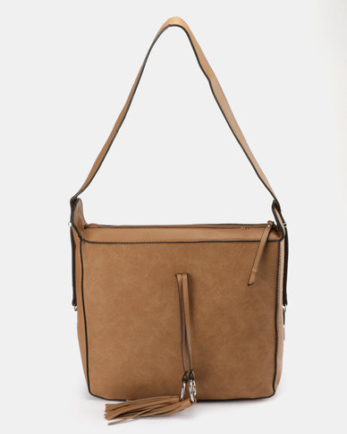Utopia Tassel Shoulder Bag Tan