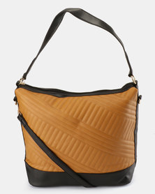 Utopia Colour Block Bag Mustard/Black
