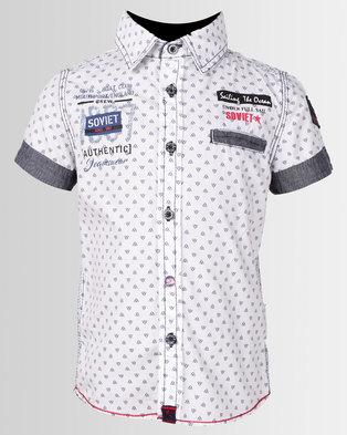 Soviet Boys Harley Shirt Sleeve Shirt White