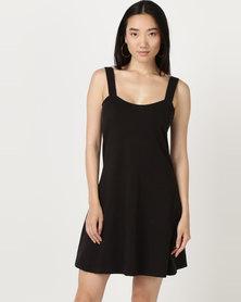 Brave Soul Solid Colour Dress Black