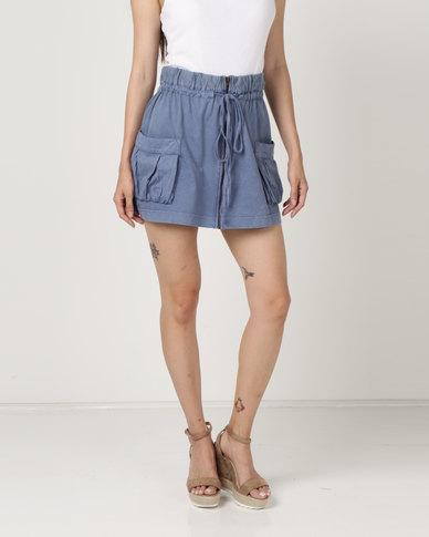 Brave Soul Skirt Denim Acid Wash