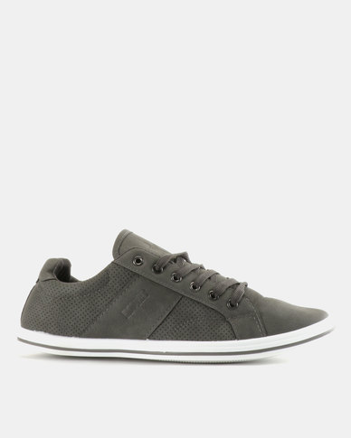 Soviet Ravenswood PU Low Cut Sneakers Grey