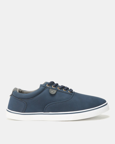 Soviet Williams Low Cut PU Lace Ups Navy