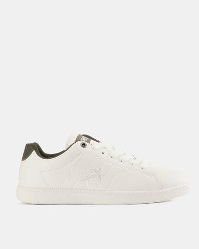 Soviet Eli Men's PU Low Cut Sneakers White/Olive