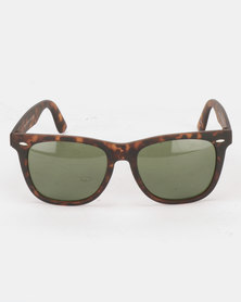 New Look Square Sunglasses Brown Pattern
