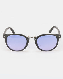 New Look Metal Bridge Square Sunglasses Mid Blue