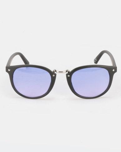 New Look Metal Bridge Square Sunglasses Mid Blue