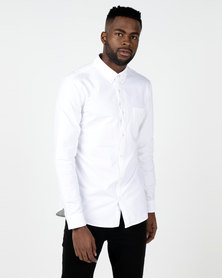 New Look Long Sleeve Oxford Shirt White