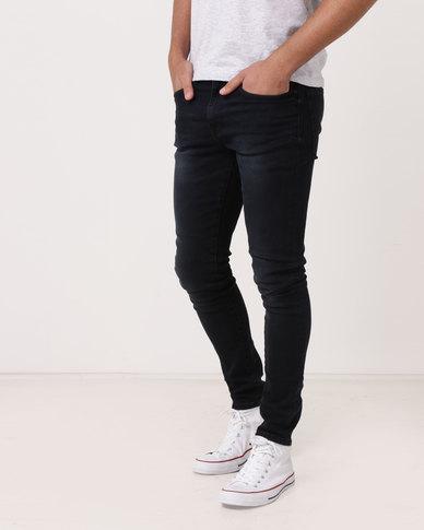 New Look Davey Skinny Jeans Blue Black