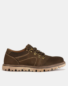 Bronx Men Lester Casual Lace Ups Coffee