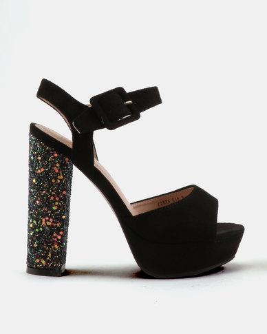 Miss Black Carys Platform Sandals Black