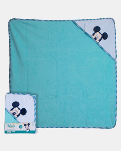 Character Brands Mickey Mouse Hooded Towel Blue
