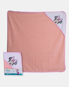 Character Brands Mickey Mouse Hooded Towel Pink