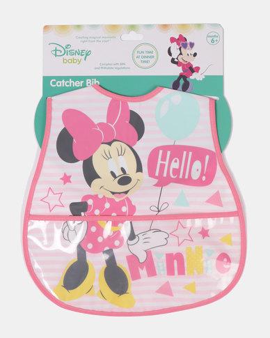 Character Brands Minnie Mouse Catcher Bib Pink