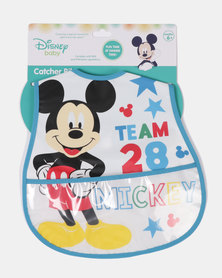 Character Brands Micky Mouse Catcher Bib Blue