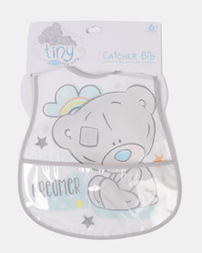 Character Brands Tiny Tatty Teddy Catcher Bib Grey