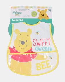 Character Brands Winnie The Pooh Catcher Bib Yellow